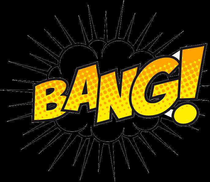 with a bang